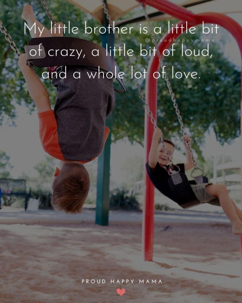 Brother Quotes - My little brother is a little bit of crazy, a little bit of loud, and a whole lot of love.'