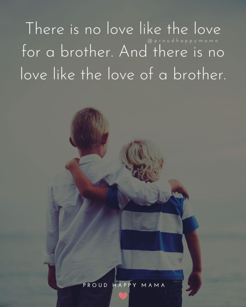 Brother Quotes - There is no love like the love for a brother. And there is no love like the love of a brother.'
