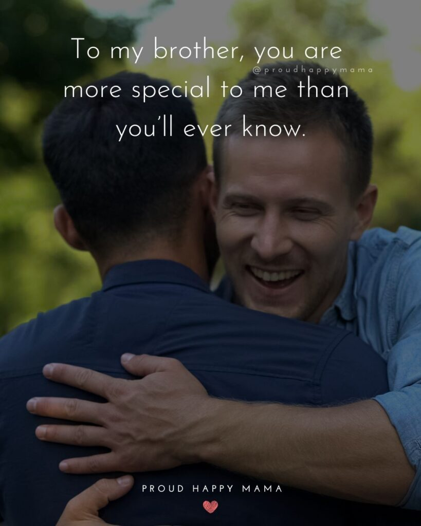 Brother Quotes - To my brother, you are more special to me than you'll ever know.'