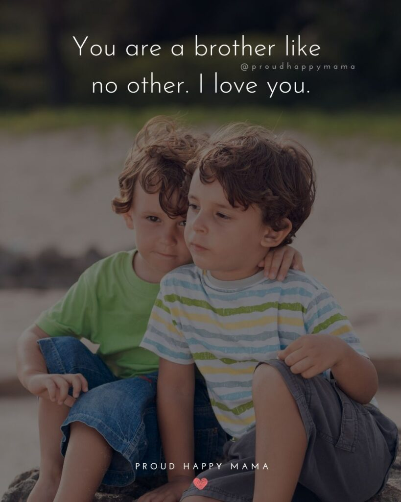 Brother Quotes - You are a brother like no other. I love you.'