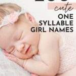 Cute one Syllable Girl Names