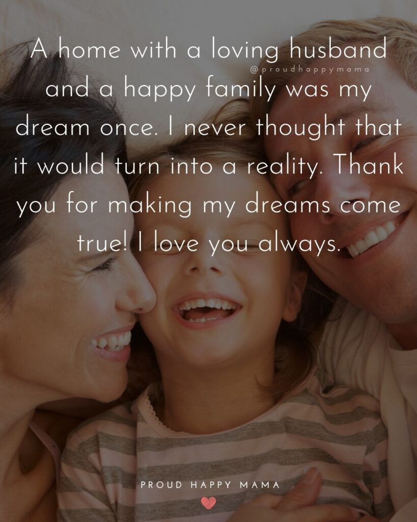 Husband Quotes - A home with a loving husband and a happy family was my dream once. I never thought that it would turn into a