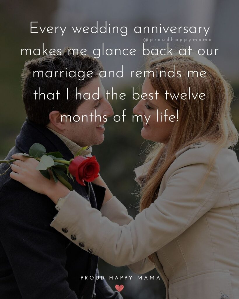 Wedding Anniversary Wishes For Husband - Every wedding anniversary makes me glance back at our marriage and reminds me that I had the best