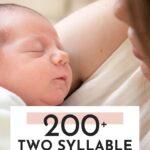 two syllable boy names list