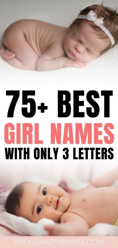 Best 3 Letter Girl Names