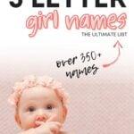 Five letter girl names