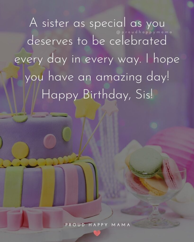 Happy Birthday Wishes For Sister - A sister as special as you deserves to be celebrated every day in every way. I hope you have