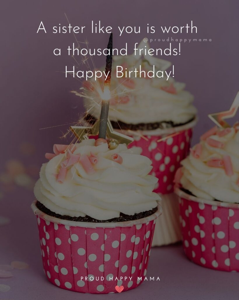 Happy Birthday Wishes For Sister - A sister like you is worth a thousand friends! Happy Birthday!'