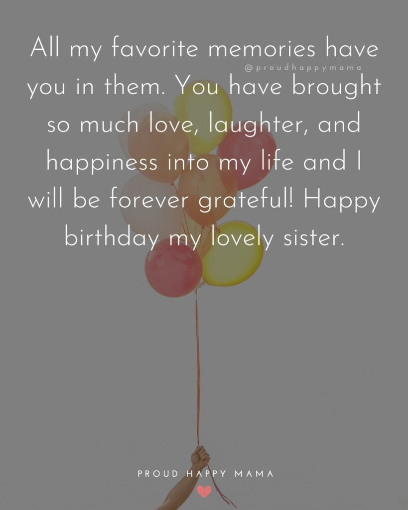 Happy Birthday Wishes For Sister - I count my blessings every day that I am lucky enough to have a sister like you. Happy Birthday,