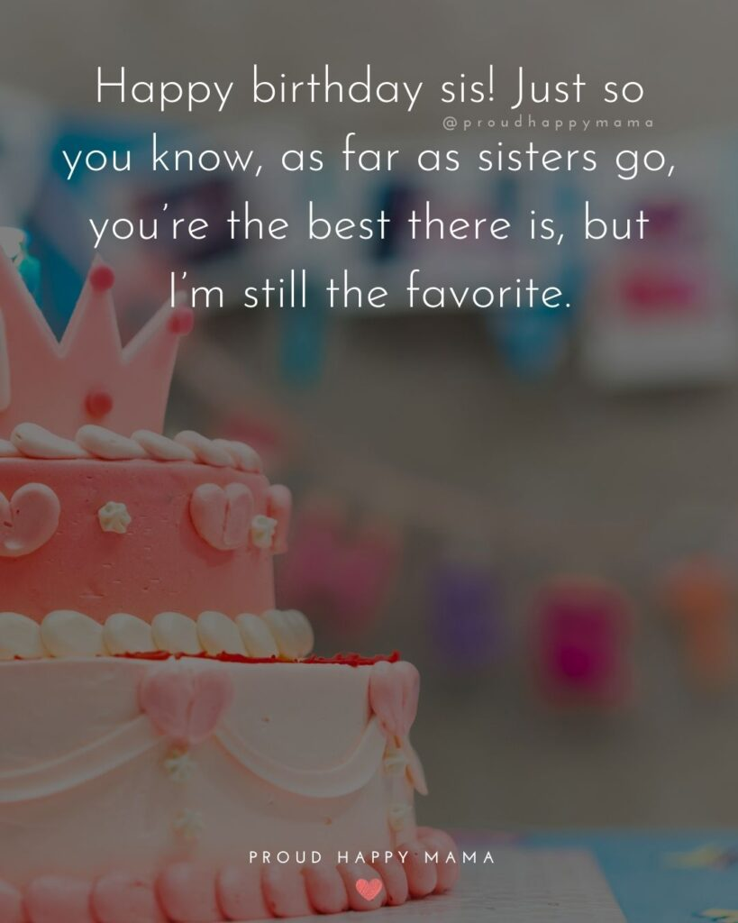 Happy Birthday Wishes For Sister - Happy birthday sis! Just so you know, as far as sisters go, you're the best there is, but I'm still the