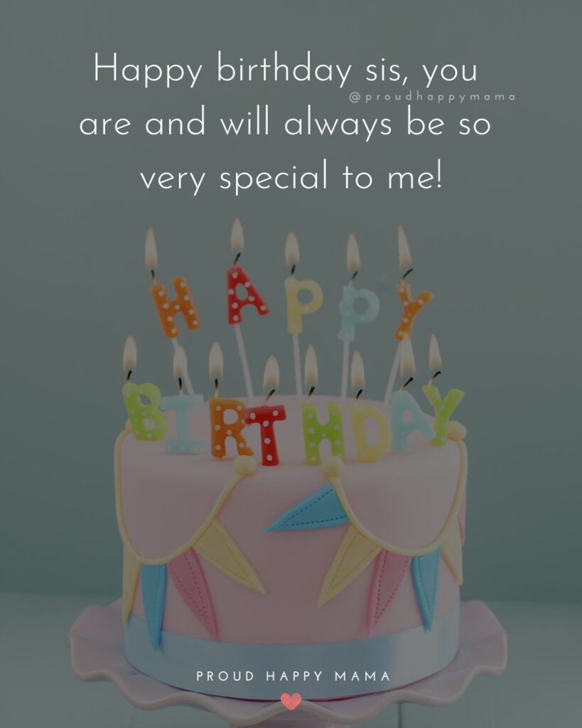 Happy Birthday Wishes For Sister - Happy birthday sis, you are and will always be so very special to me!'