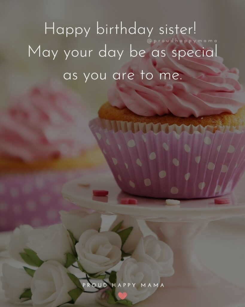 Happy Birthday Wishes For Sister - Happy birthday to my sweet sister! May your day be full of fun, laughter, and cake!'
