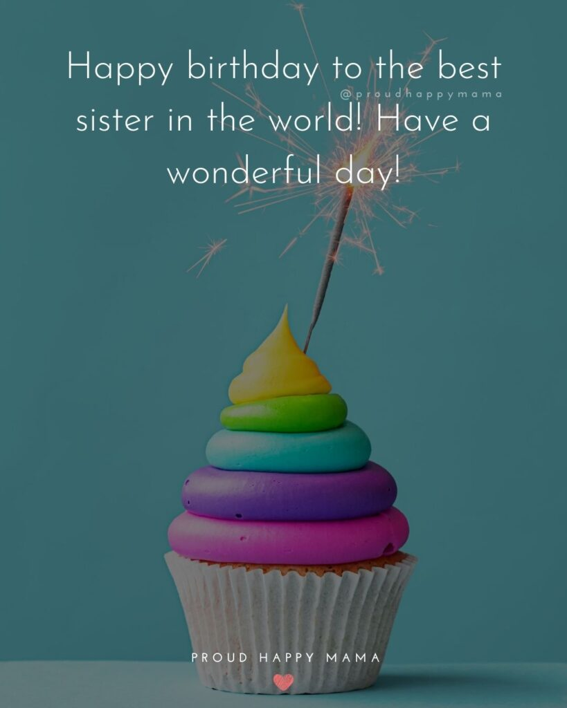 Happy Birthday Wishes For Sister - Happy birthday to the best sister in the world! Have a wonderful day!'