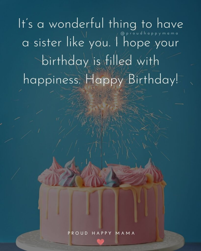 Happy Birthday Wishes For Sister - It's a wonderful thing to have a sister like you. I hope your birthday is filled will happiness. Happy