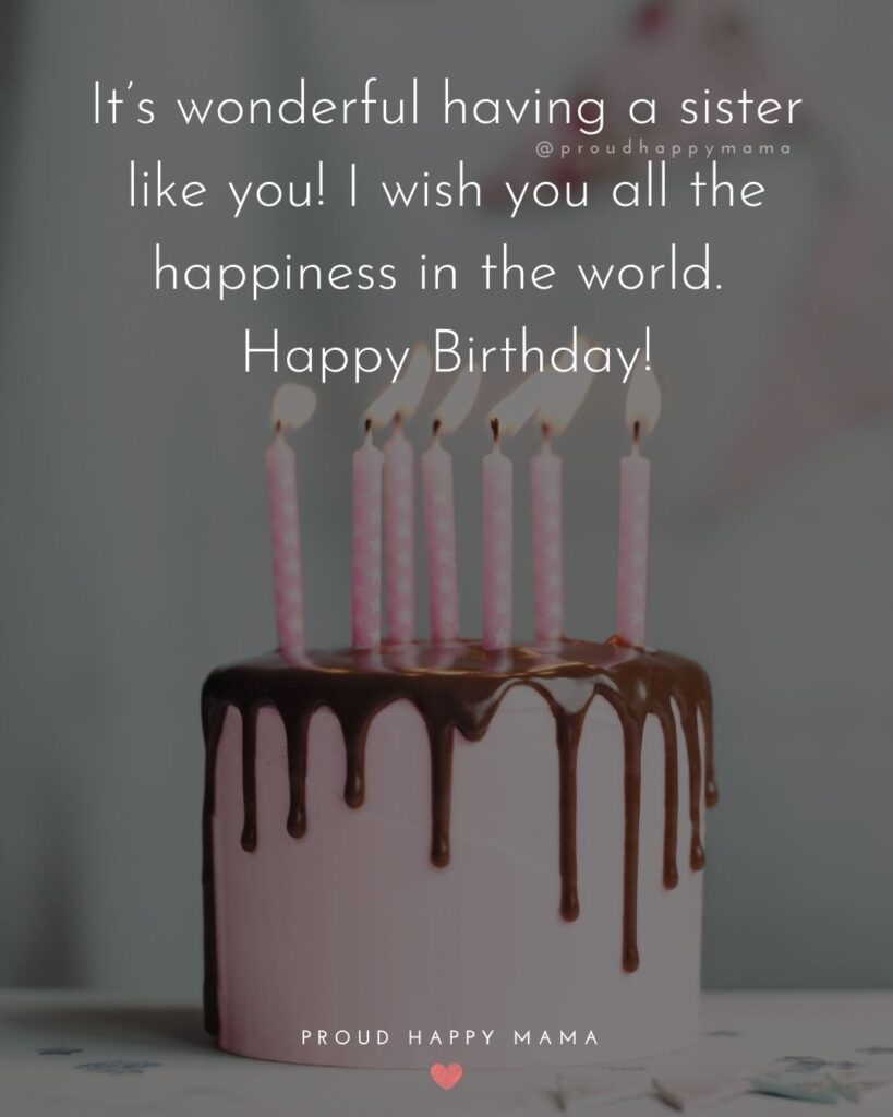 Happy Birthday Wishes For Sister - To my wonderful sister, may all your dreams come true on your special day. Happy Birthday!Happy Birthday Wishes For Sister - To my wonderful sister, may all your dreams come true on your special day. Happy Birthday!