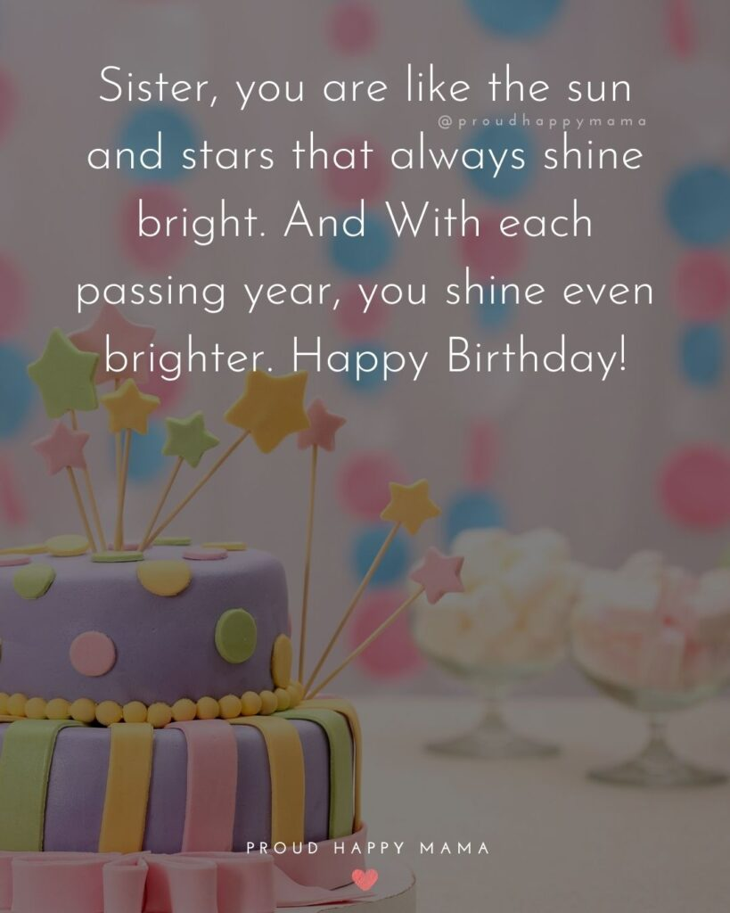 Happy Birthday Wishes For Sister - To my sister, may your birthday be full of joy and the year ahead be your best one yet! Happy