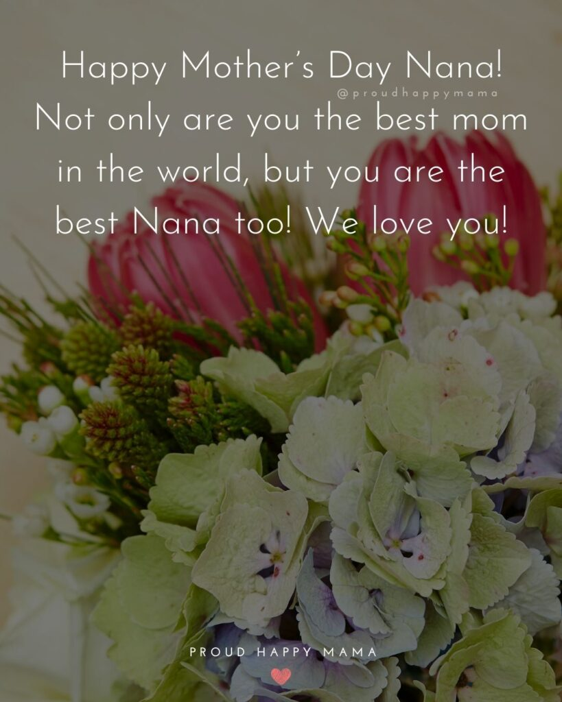 Happy Mothers Day Quotes To Grandma - Happy Mother's Day Nana! Not only are you the best mom in the world, but you are