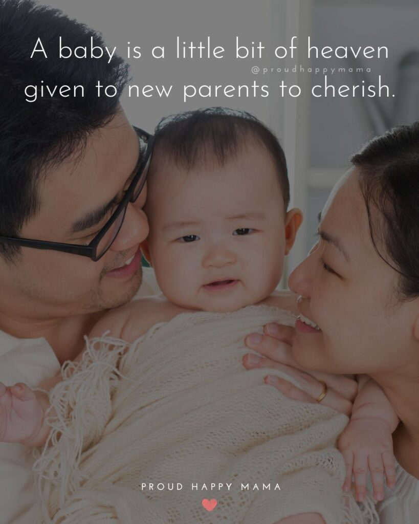 Quotes For New Parents - A baby is a little bit of heaven given to new parents to cherish.'