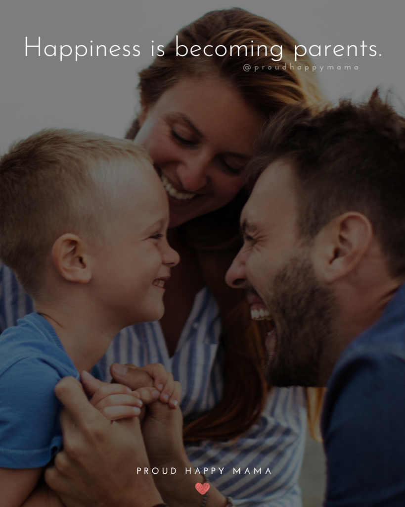 Quotes For New Parents - Happiness is becoming parents.'