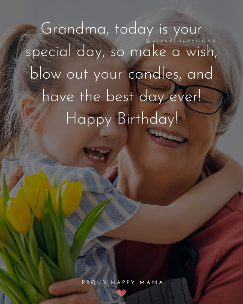 Happy Birthday Grandma Quotes - Grandma, today is your special day, so make a wish, blow out your candles, and have the