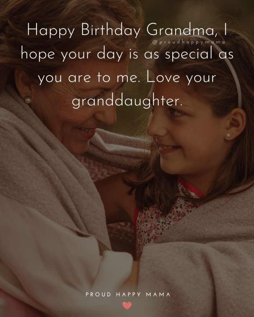 Happy Birthday Grandma Quotes - Happy Birthday Grandma, I hope your day is as special as you are to me. Love your