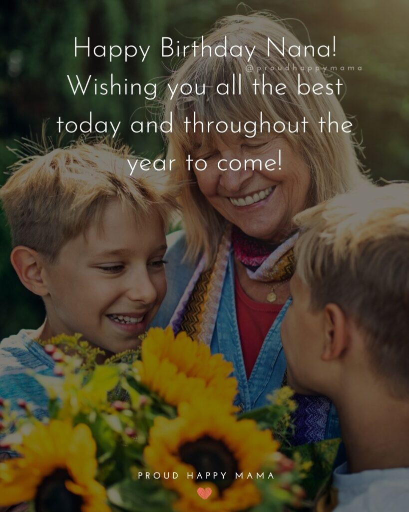 Happy Birthday Grandma Quotes - Happy Birthday Nana! Wishing you all the best today and throughout the year to