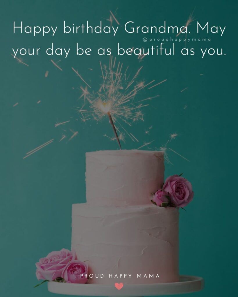 Happy Birthday Grandma Quotes - Happy birthday Grandma. May your day be as beautiful as you.'
