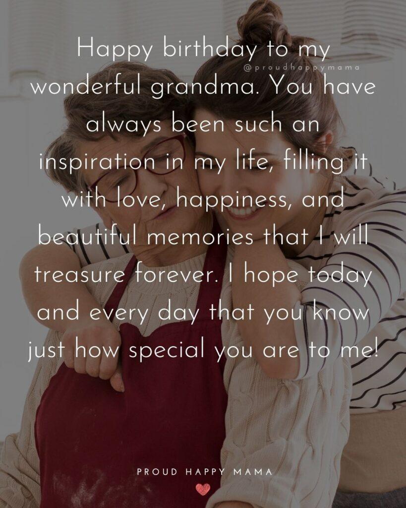 Happy Birthday Grandma Quotes - Happy birthday to my wonderful grandma.