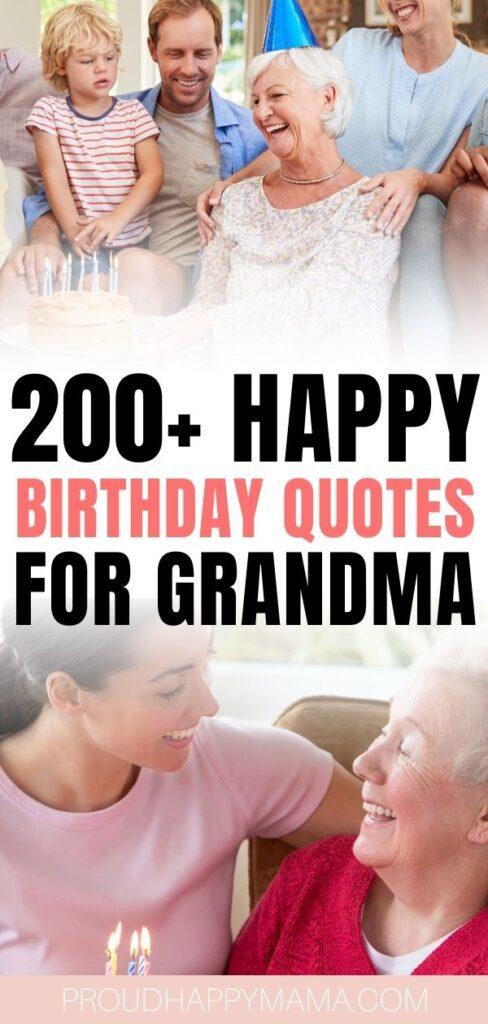 best happy birthday grandma quotes