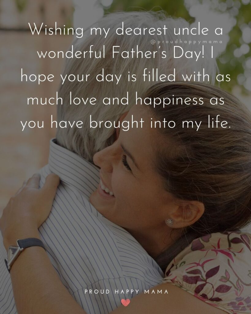 Happy Fathers Day Uncle Quotes - Wishing my dearest uncle a wonderful Father's Day! I hope your day is filled with as much