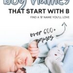Best Boy Names That Start With B