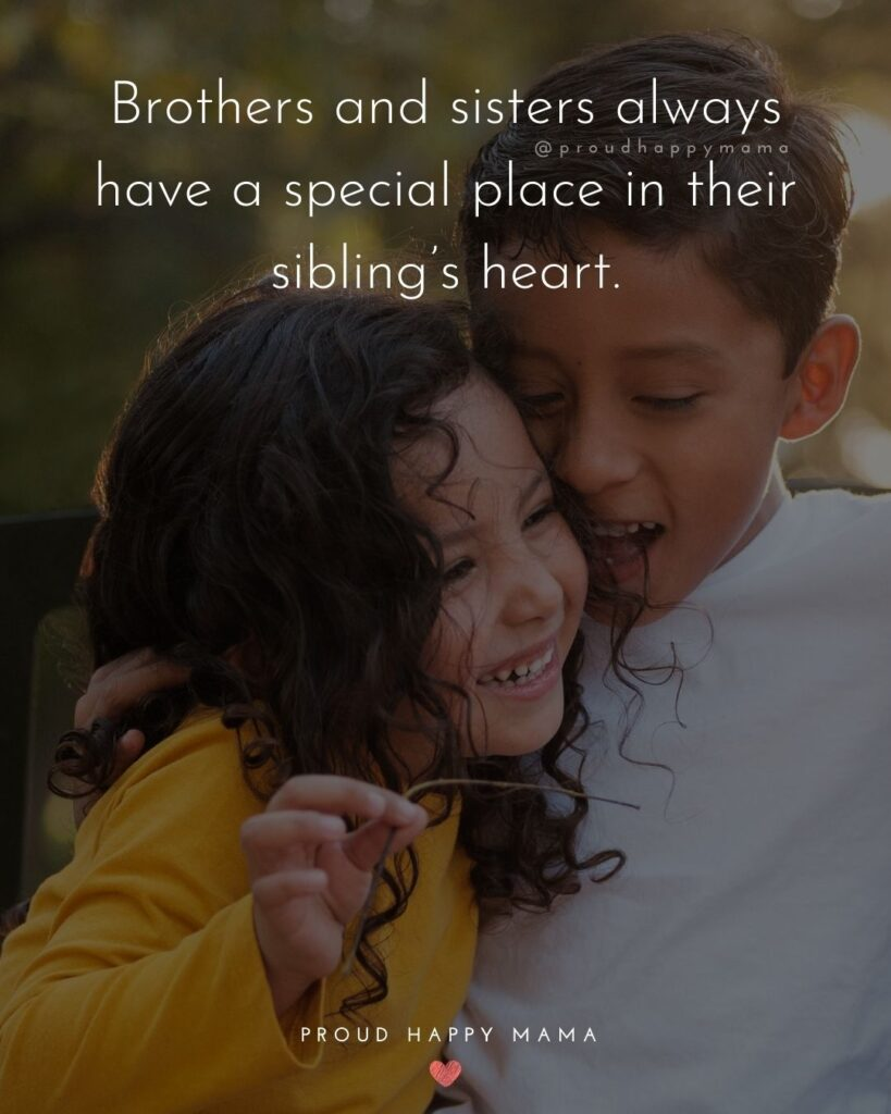 Brother And Sister Quotes - Brothers and sisters always have a special place in their sibling's heart.'
