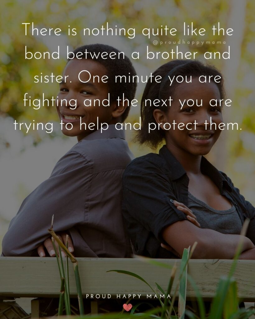 Brother And Sister Quotes - There is nothing quite like the bond between a brother and sister. One minute you are fighting and