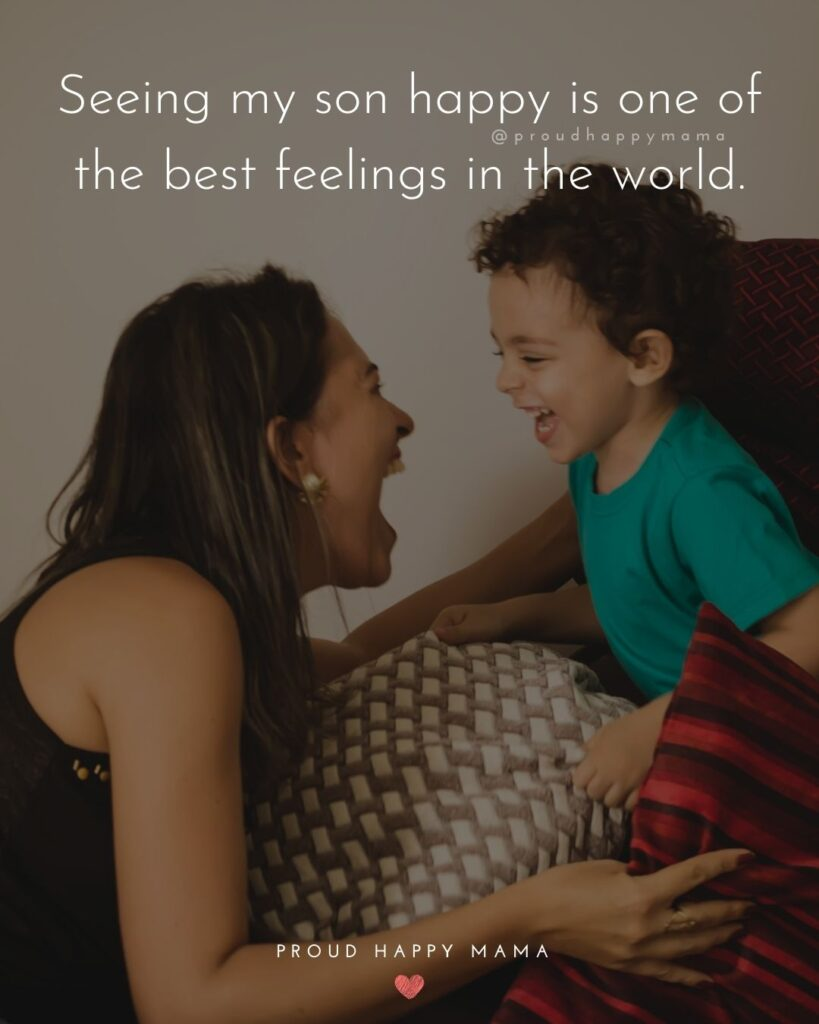 Son Quotes - Seeing my son happy is one of the best feelings in the world.'