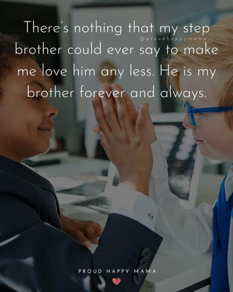Step Brother Quotes - There's nothing that my step brother could ever say to make me love him any less. He is my brother