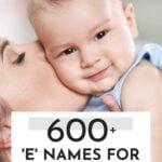 Unique Boy Names That Start With E
