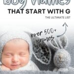 Unique Boy Names That Start With G