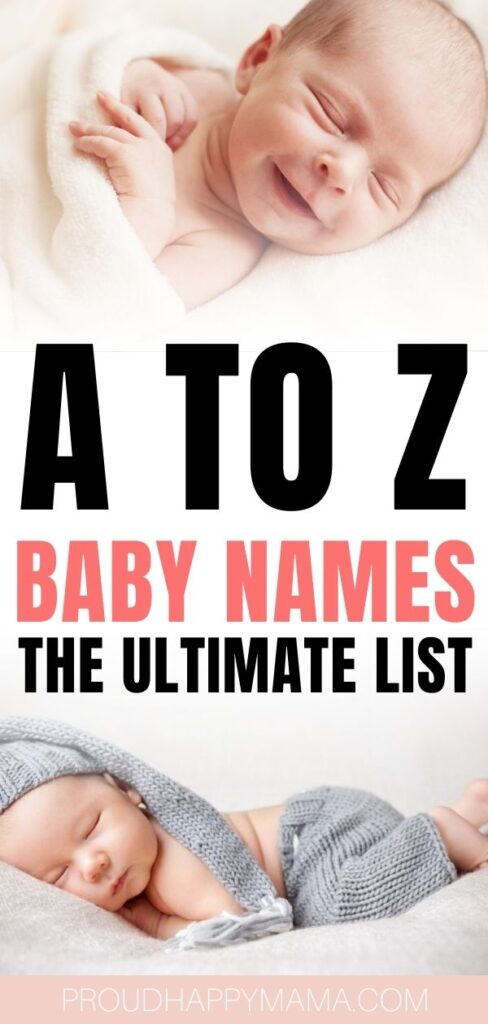 a to z baby names list