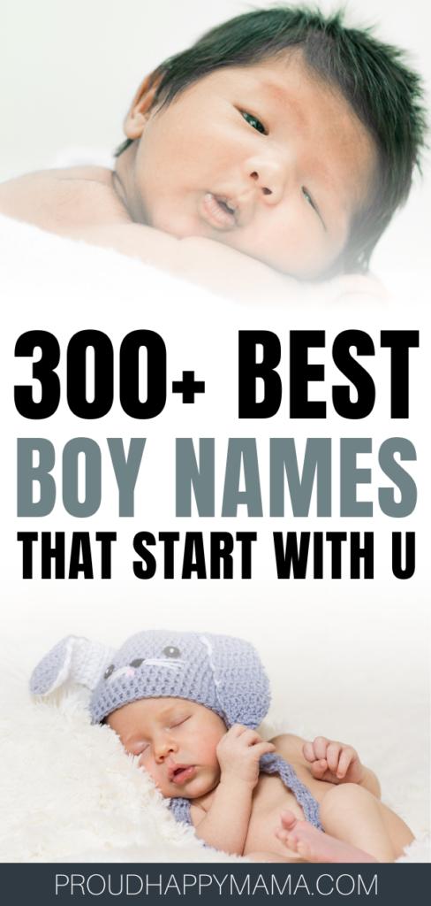 Best Boy Names That Start With U