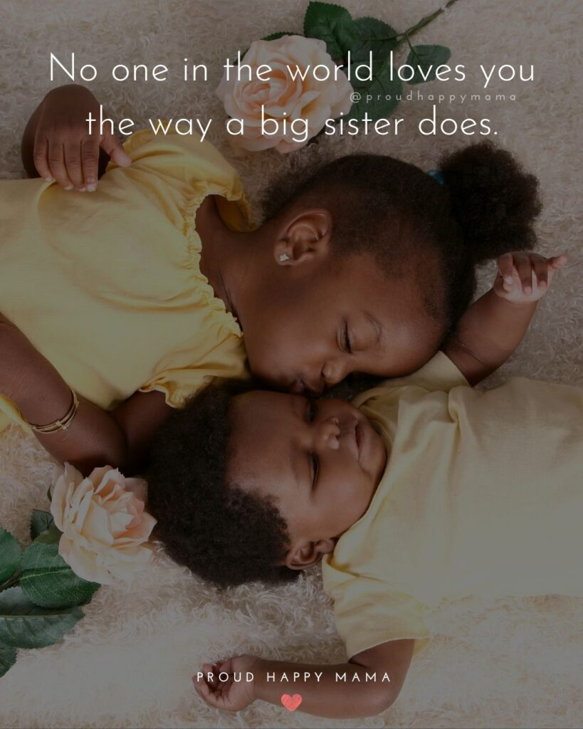 Big Sister Quotes - No one in the world loves you the way a big sister does.'