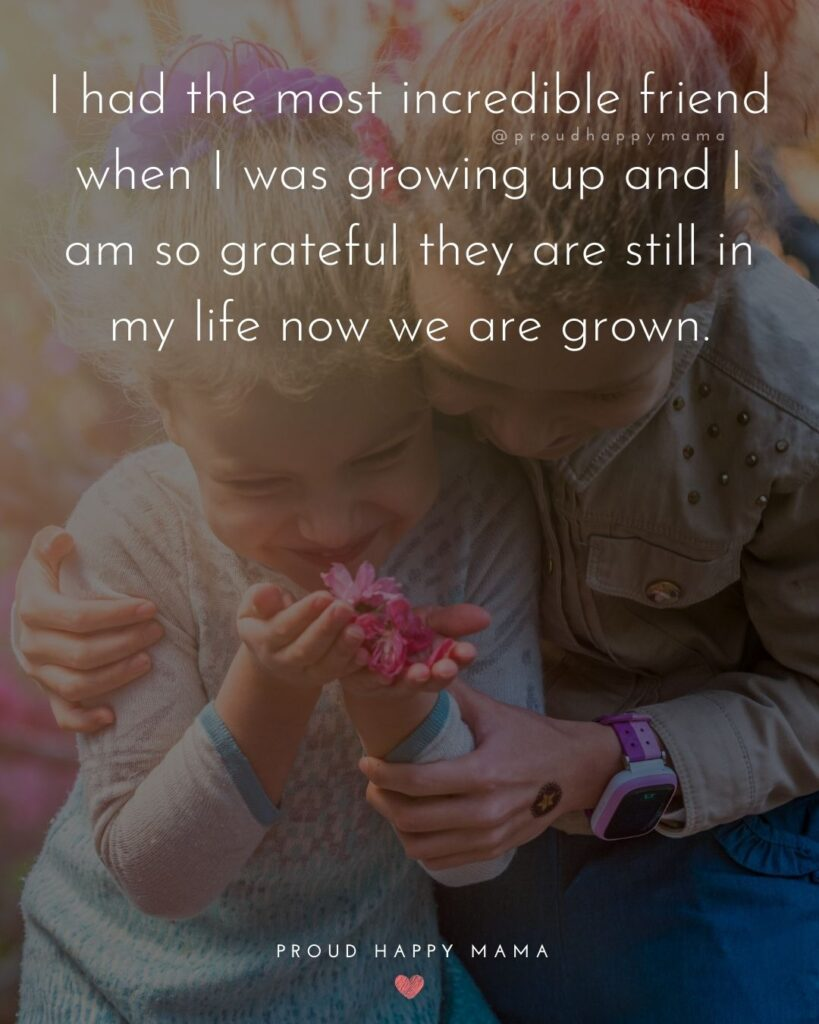 Childhood Friendship Quotes - I had the most incredible friend when I was growing up and I am so grateful they are still in my