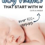 Cute Baby Boy Names That Start With W