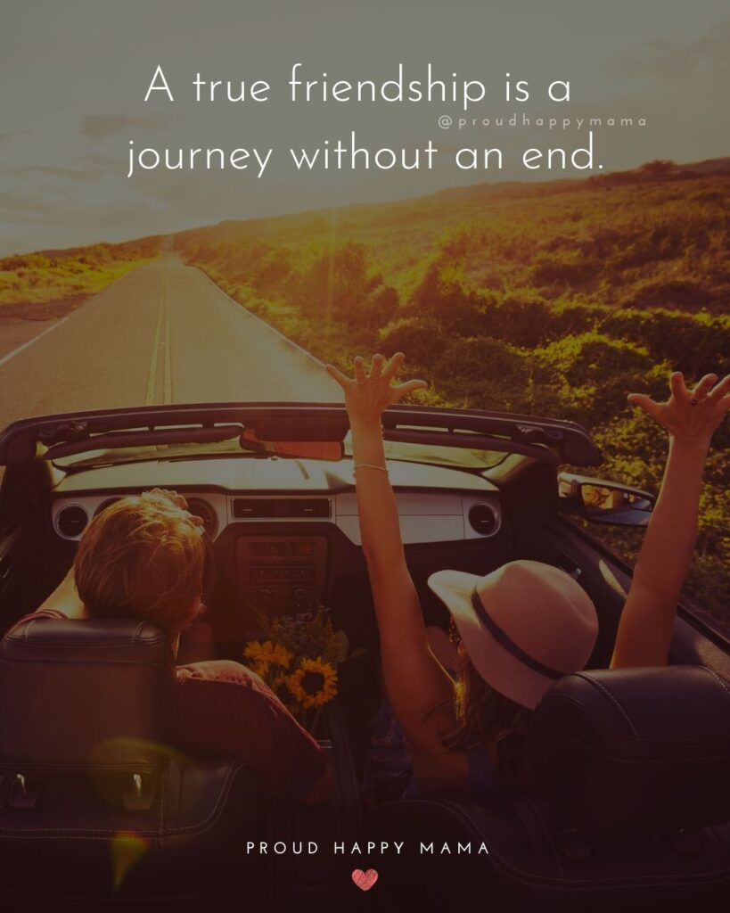 Friendship Quotes - A true friendship is a journey without an end.'