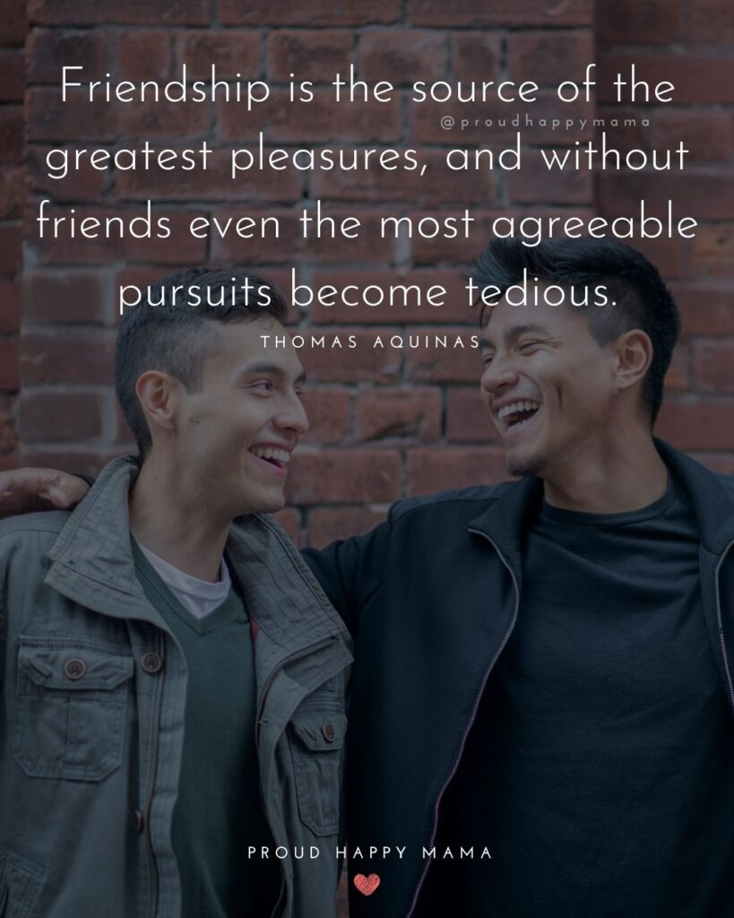 Friendship Quotes - Friendship is the source of the greatest pleasures, and without friends even the most agreeable pursuits