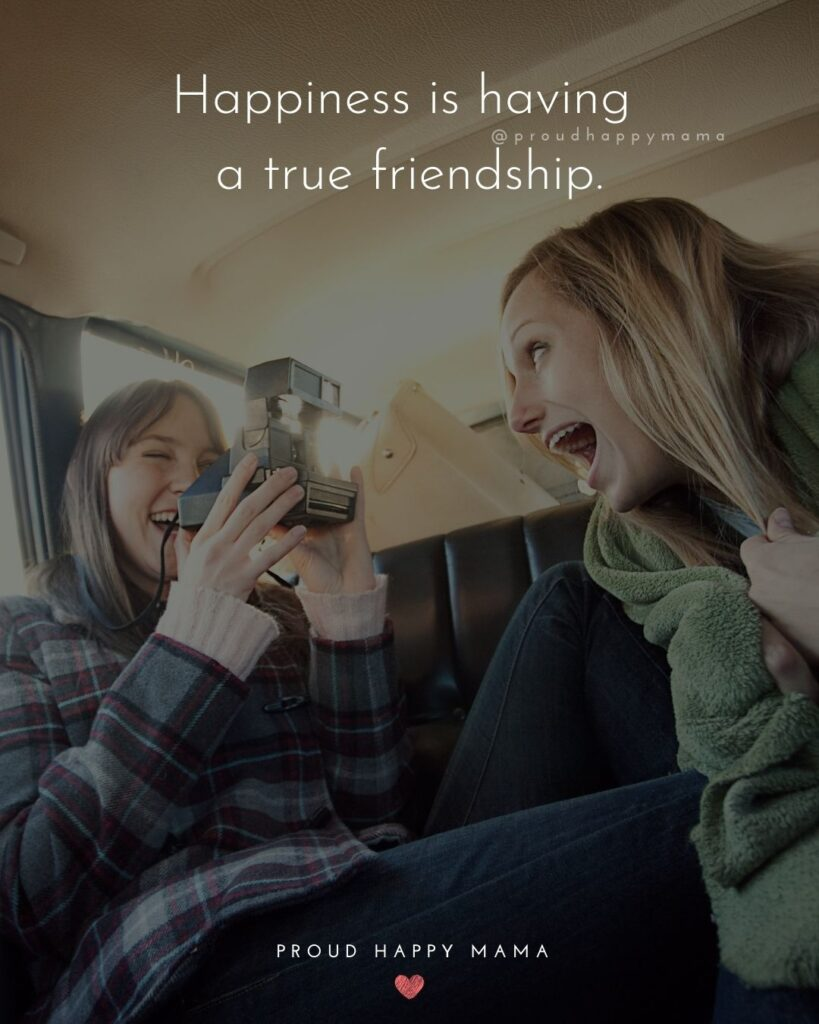 Friendship Quotes - Happiness is having a true friendship.'
