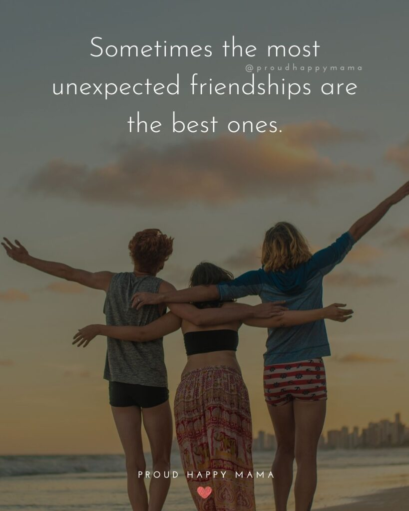 Friendship Quotes - Sometimes the most unexpected friendships are the best ones.'