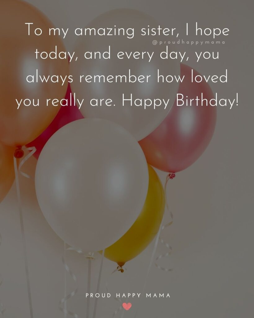 Happy Birthday Sister In Law Quotes - To my amazing sister, I hope today, and every day, you always remember how loved you