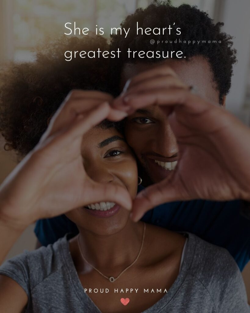 Love Quotes For Her - She is my heart's greatest treasure.'