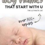 Unique Boy Names That Start With U