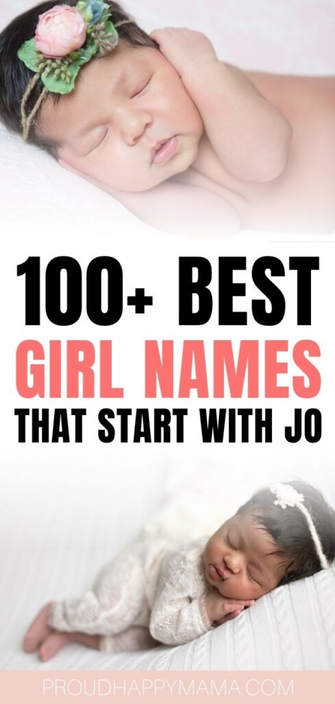 Best Girl Names Starting with Jo